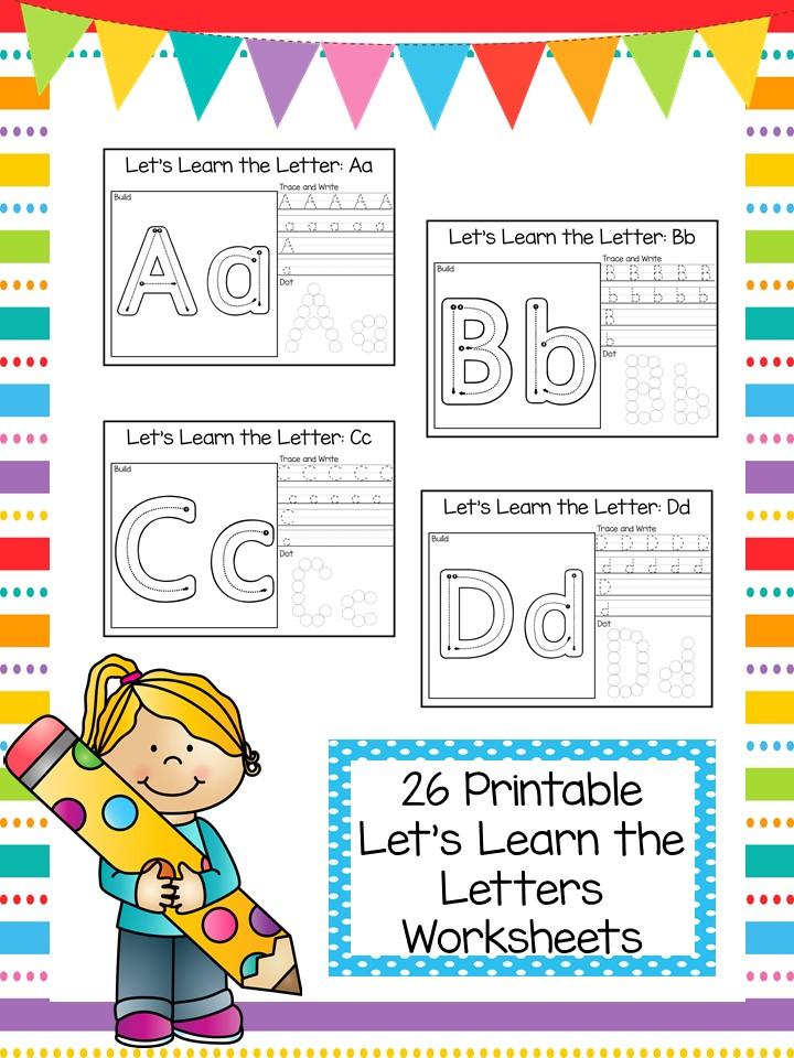 Letter Learning Printable Worksheets for Preschool