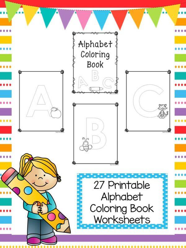 27 Printable Alphabet Coloring Book Worksheets