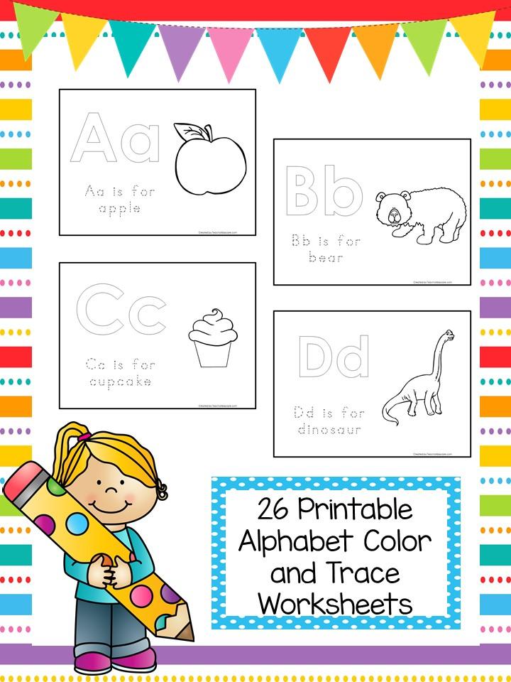 26 Printable Alphabet Phonics Color Worksheets