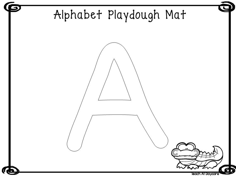 26 Printable Uppercase Alphabet Dough Mats