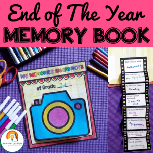 End of Year Memory Book Printable Craft