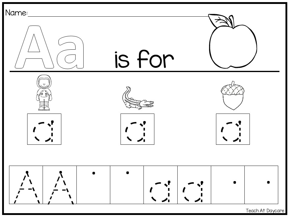26 Alphabet Phonics Color Box Tracing and Writing