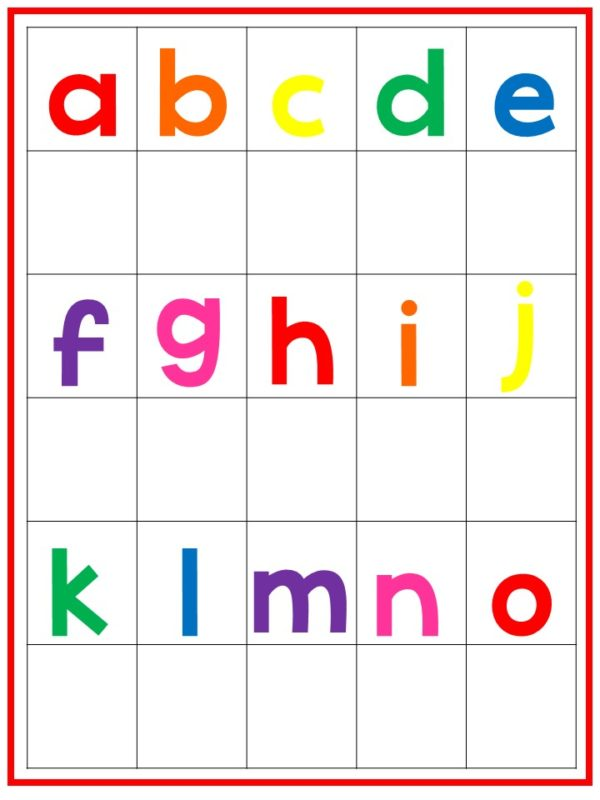 Lowercase Alphabet Phonics Printable Work Mats