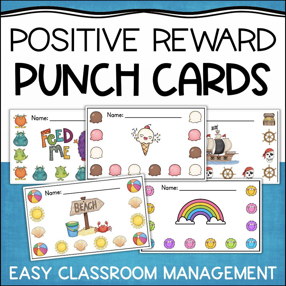 Punch Cards for Behavior Management & Rewards