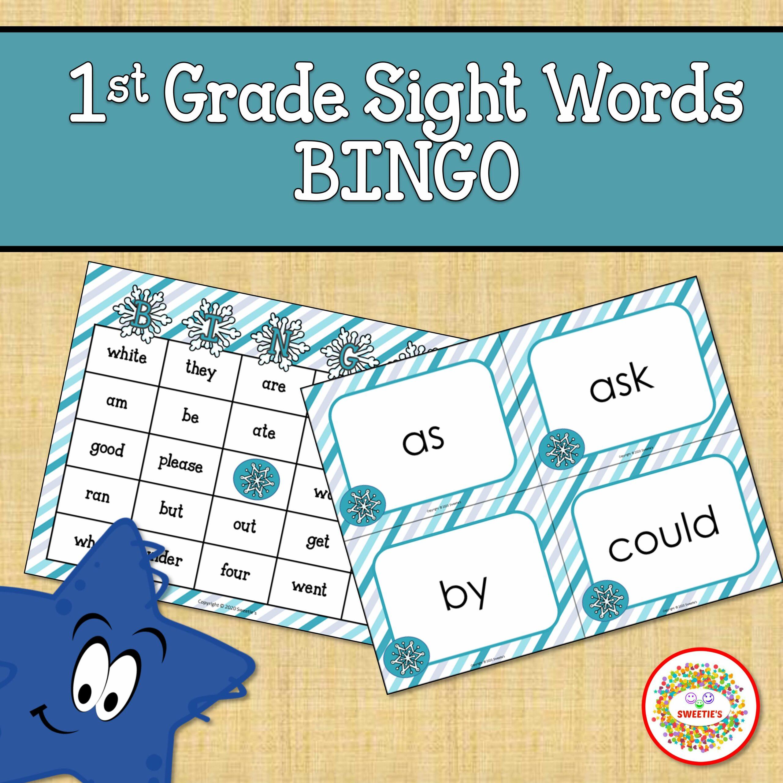 First Grade Sight Word Bingo Winter
