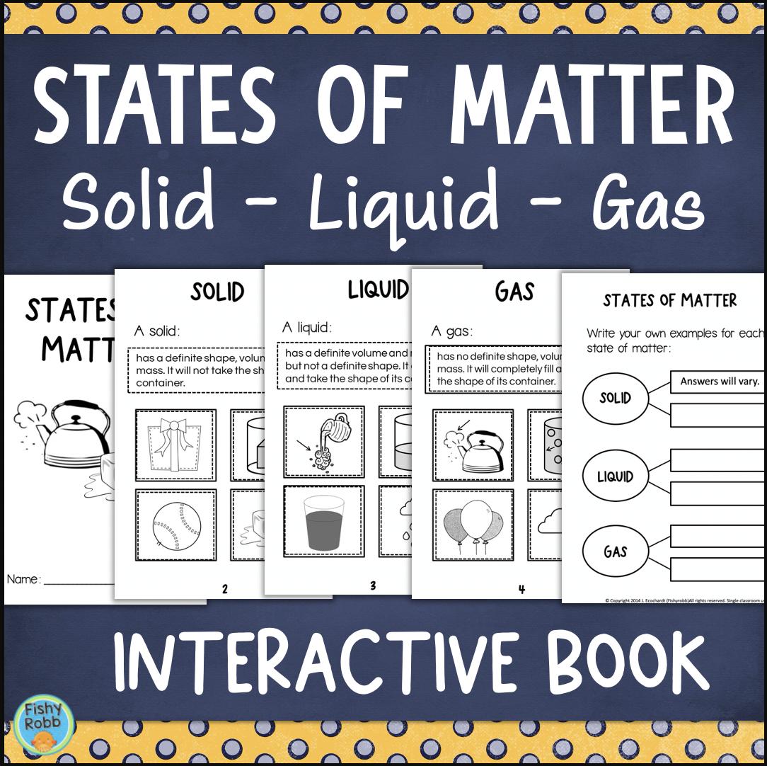 Science Matter Worksheets Printable