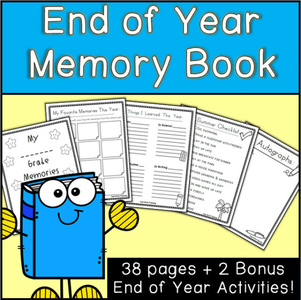 Printable End of the Year Memory Book