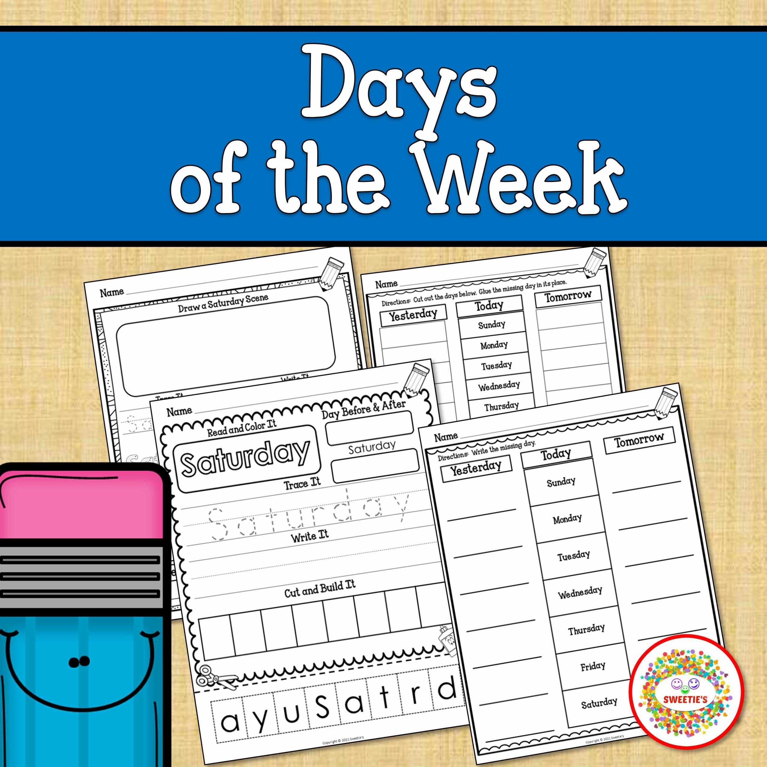 Days of the Week Worksheets Printable