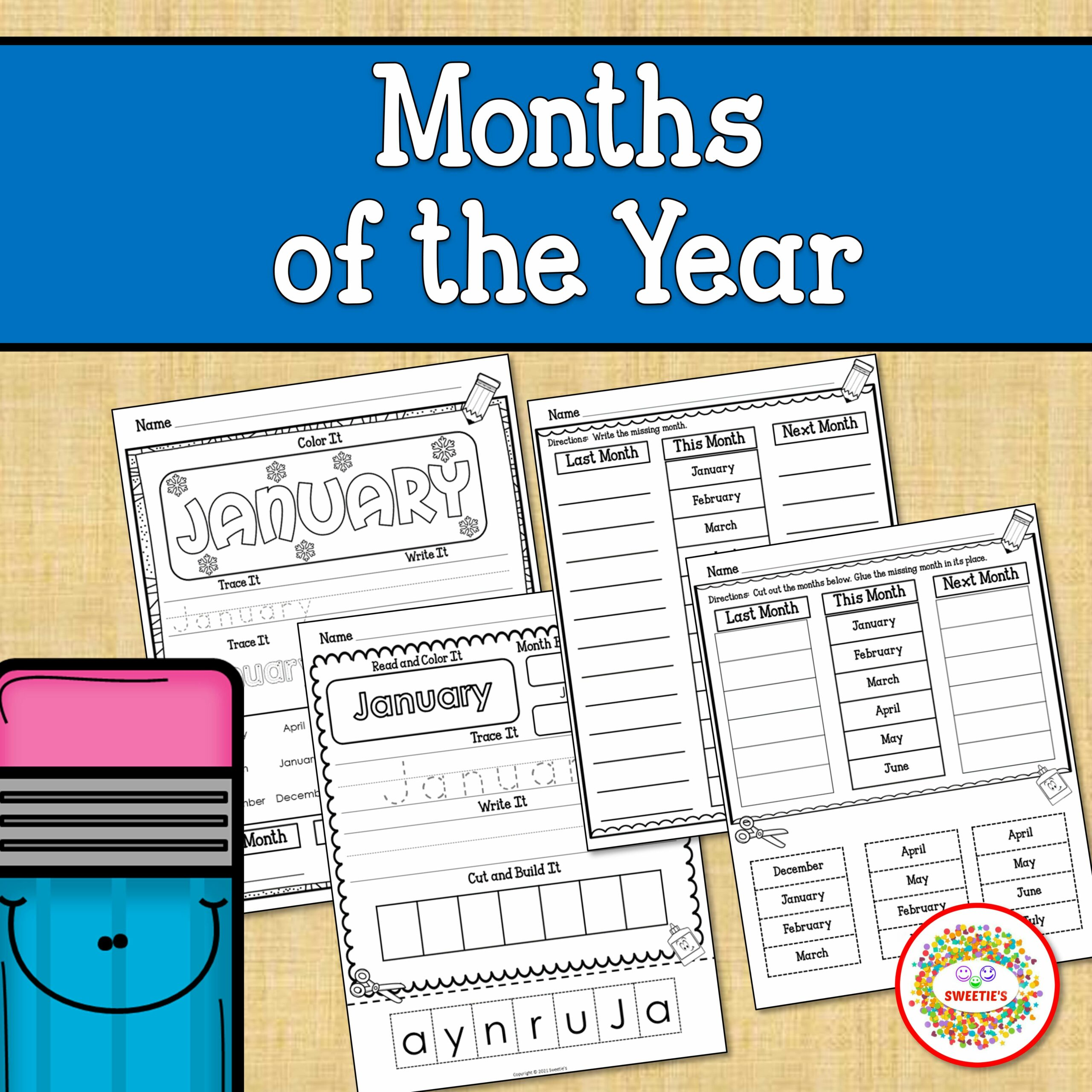 Months of the Year Printable Worksheets
