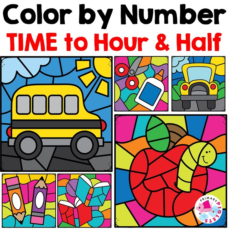 Color By Time Worksheets