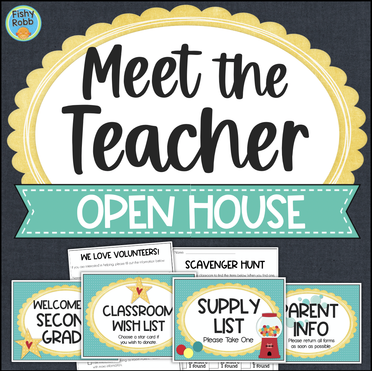 Open House Meet the Teacher Stations and Printable Activities