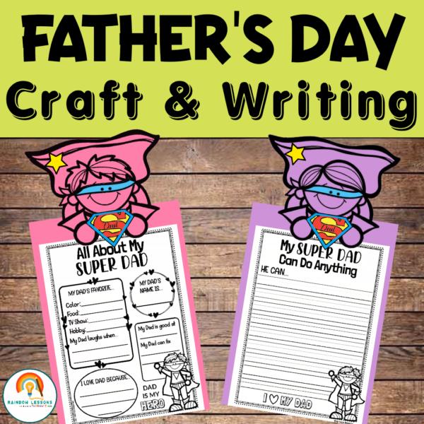Fathers Day Printable Decor and Writing