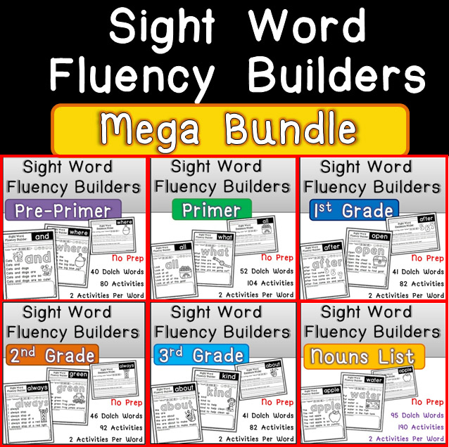 Sight Word Fluency Builders MEGA BUNDLE