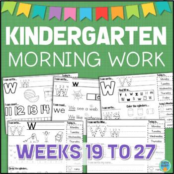 Kindergarten Morning Work Set 3 Letters Numbers