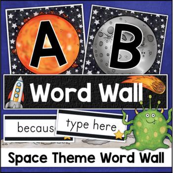 Editable Word Wall Bulletin Board Decor
