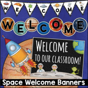 Space Theme Printable Welcome Banner