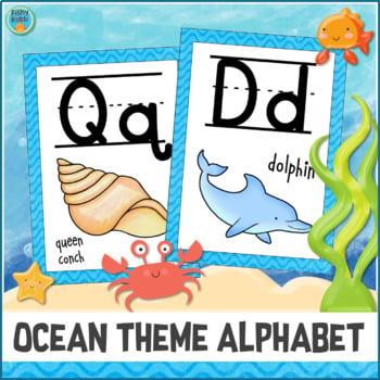 Printable Ocean Alphabet Decor