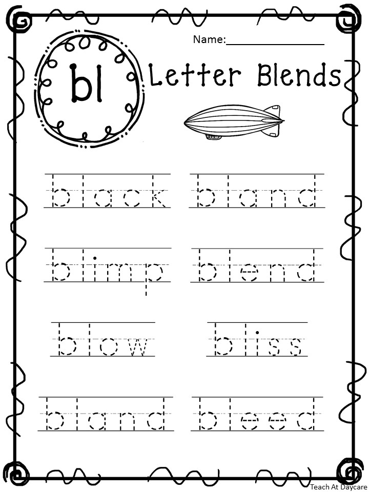 Blends Tracing Worksheets