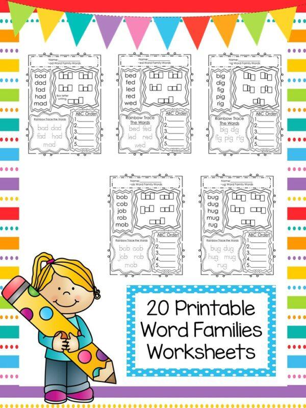 Word Family Printable Worksheets