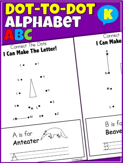 Alphabet Dot-to-Dot Printable Worksheets