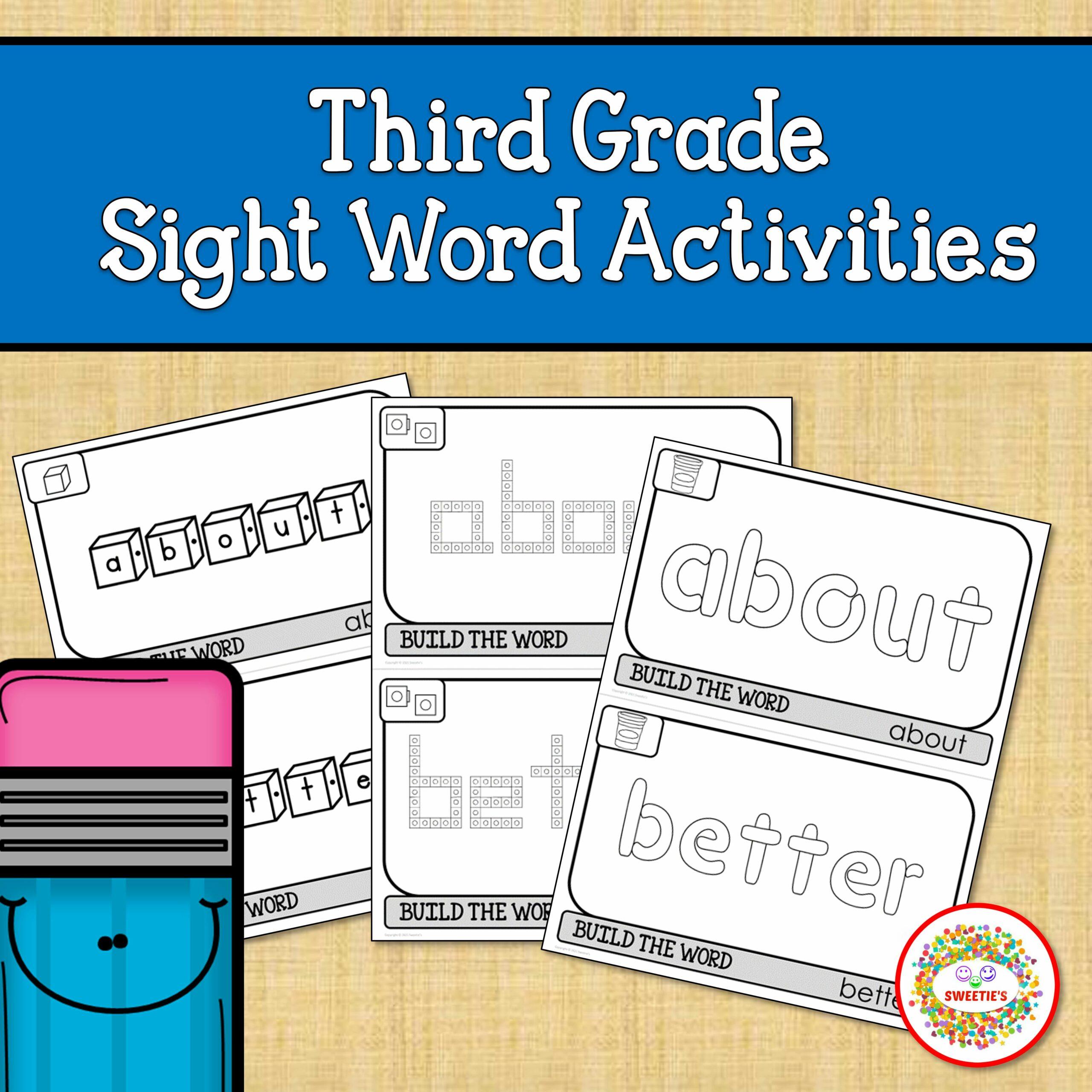 Third Grade Sight Words Activities