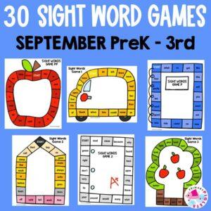 Sight Word Printable Games