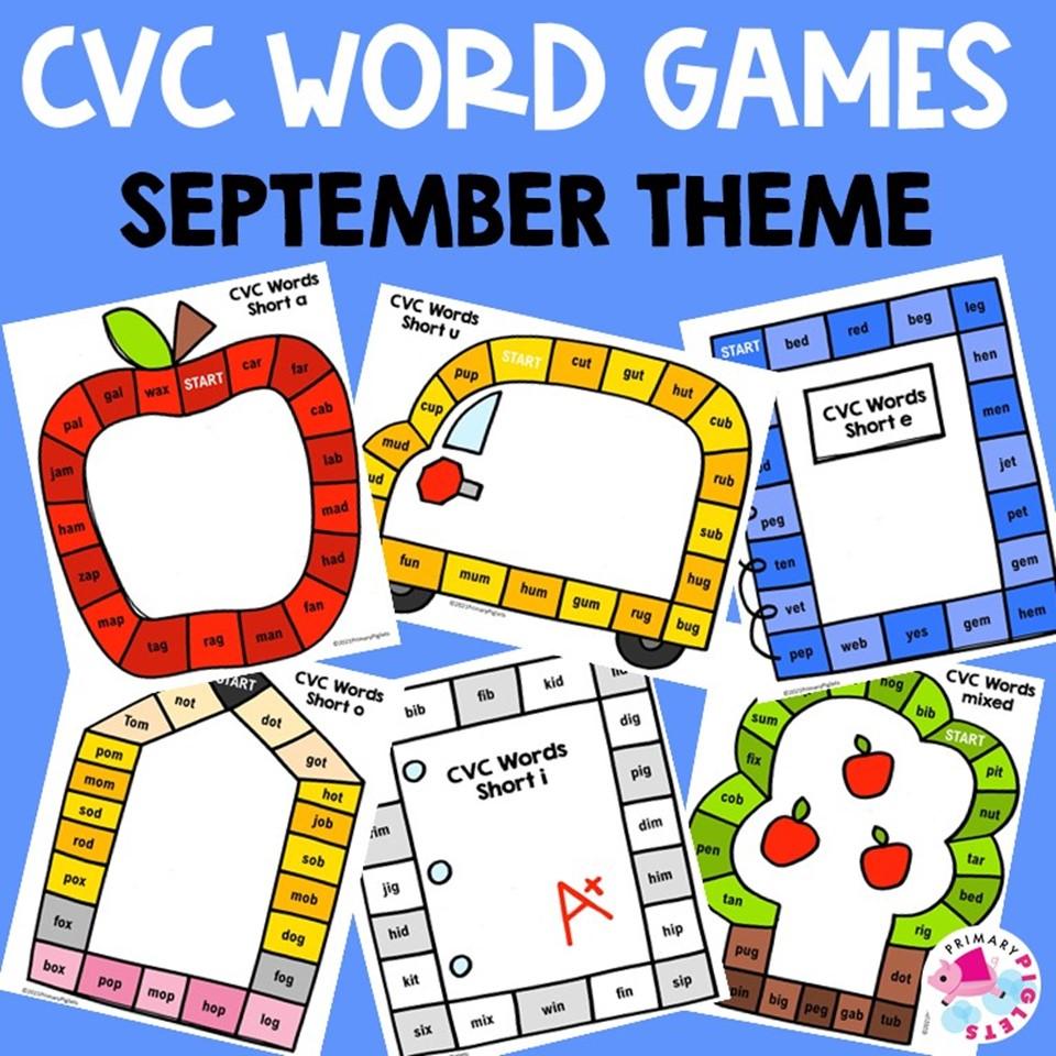 CVC Word Games Printable