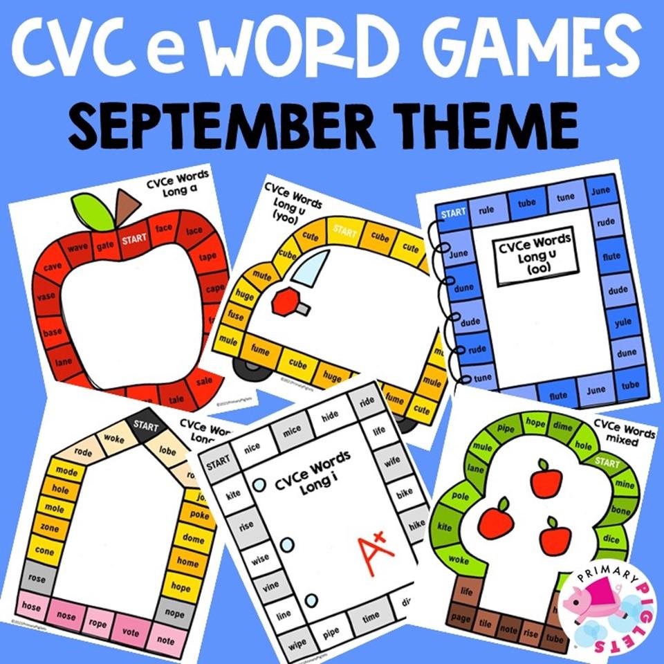 CVCe Word Games Printable