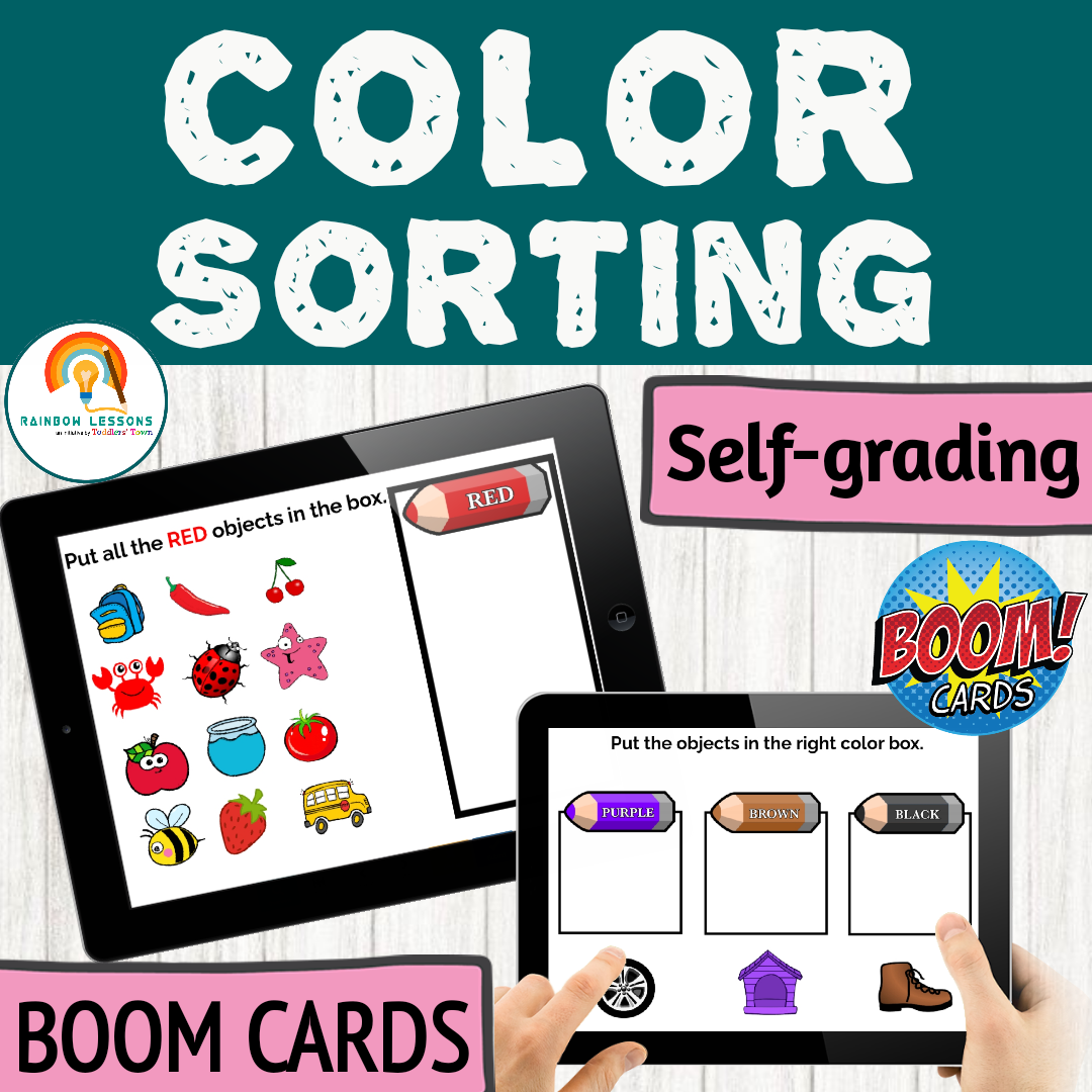 Color Sorting Boom Cards