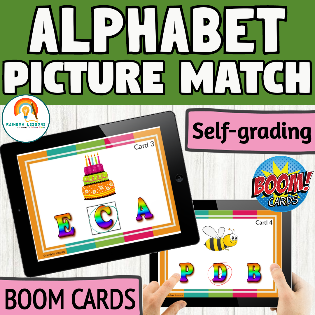 Alphabet Picture Matching Boom Cards