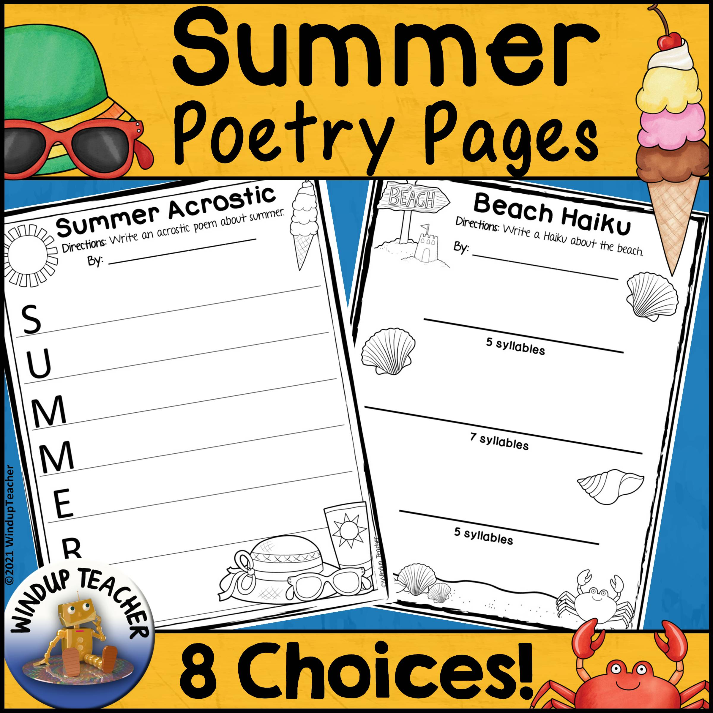 Printable Summer Poetry Worksheets