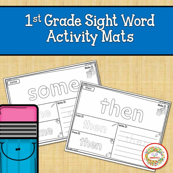 First Grade Sight Word Activity Mats Printable
