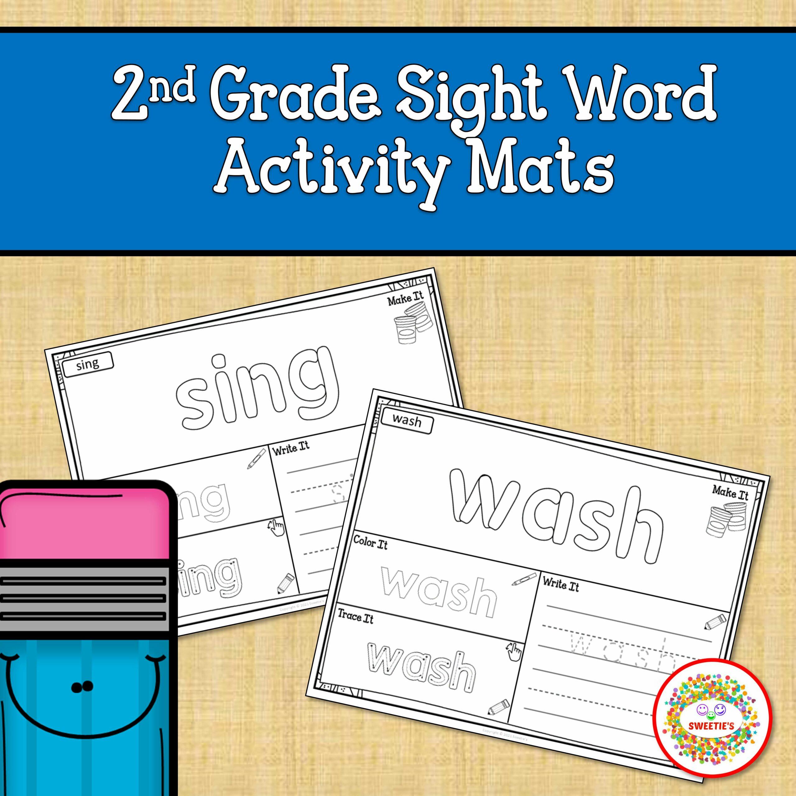 Second Grade Sight Word Mats Printable
