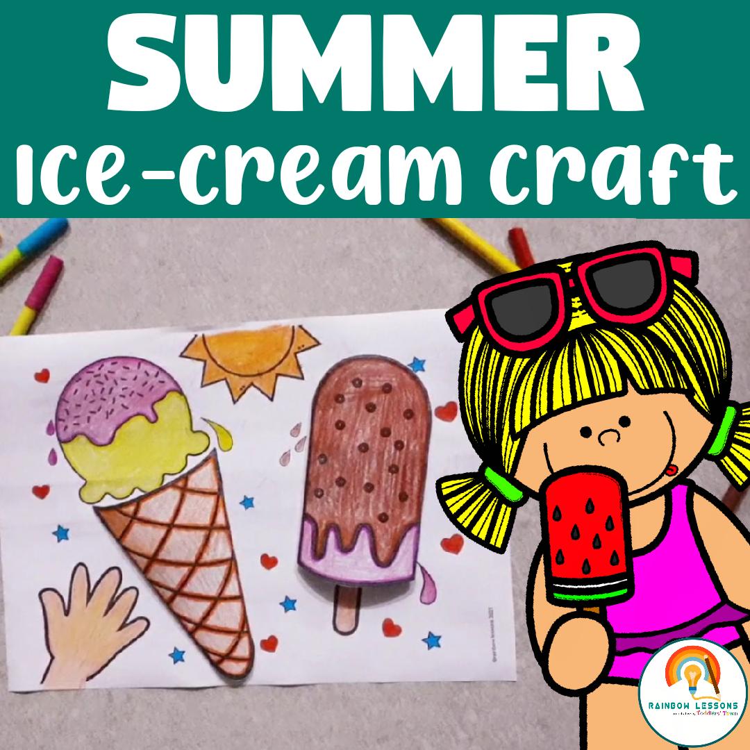 Summer Paper Craft Printable Ice Cream