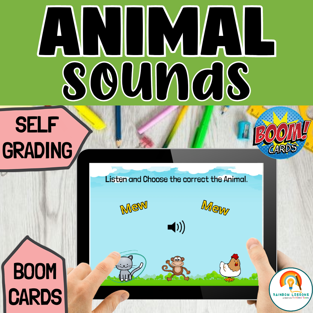 Animal Sounds Boom Cards for Distance Learning