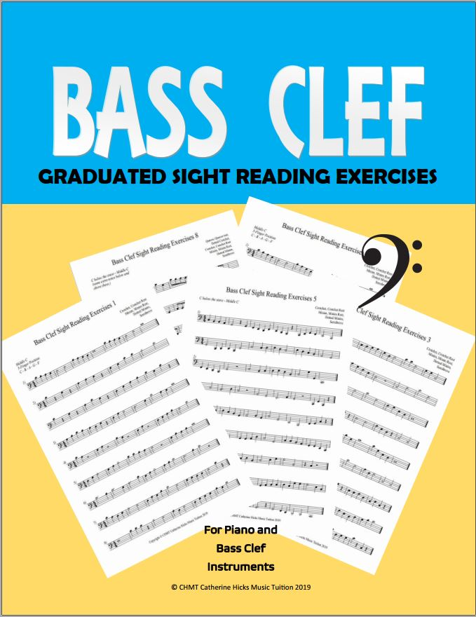 Bass Clef Music Printable Worksheets