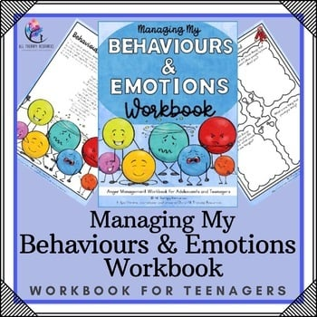 Anger Management Activities for Teenagers Printable Workbook