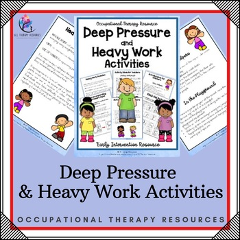 Deep Pressure Occupational Therapy Activities
