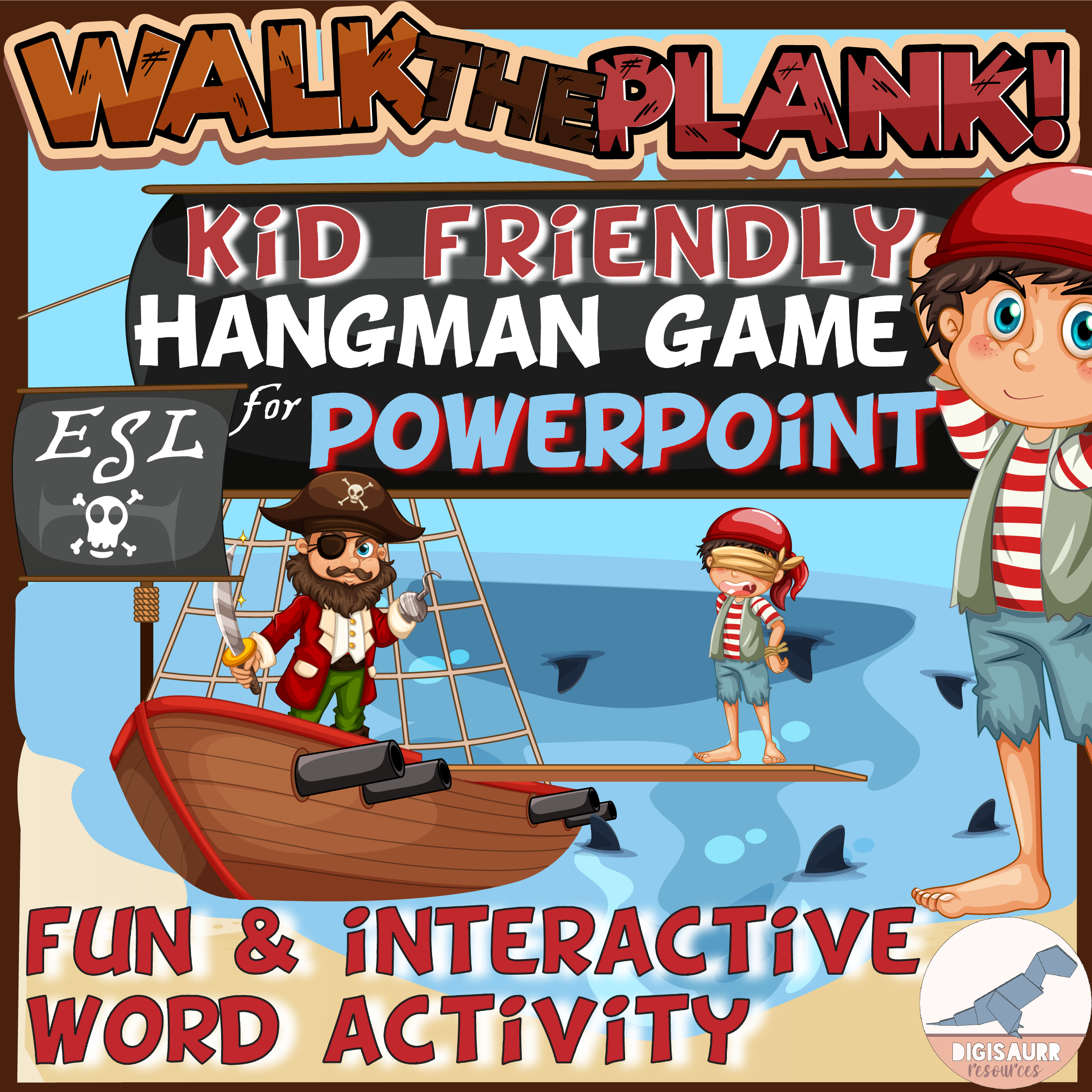Pirate Theme PowerPoint Word Activity for Kids