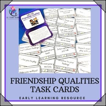 Friendship Task Cards Printable