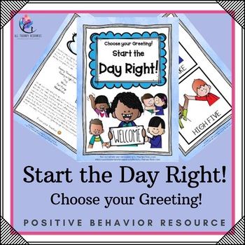 Start the Day Right Printable Visuals for Therapy
