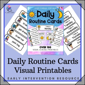 Visual Daily Routine Printable Cards