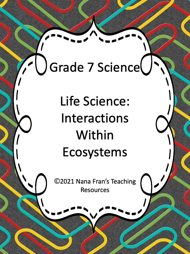 Science Grade 7 Ecosystems Printable Worksheets
