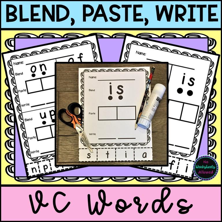 VC Words Printable Worksheets