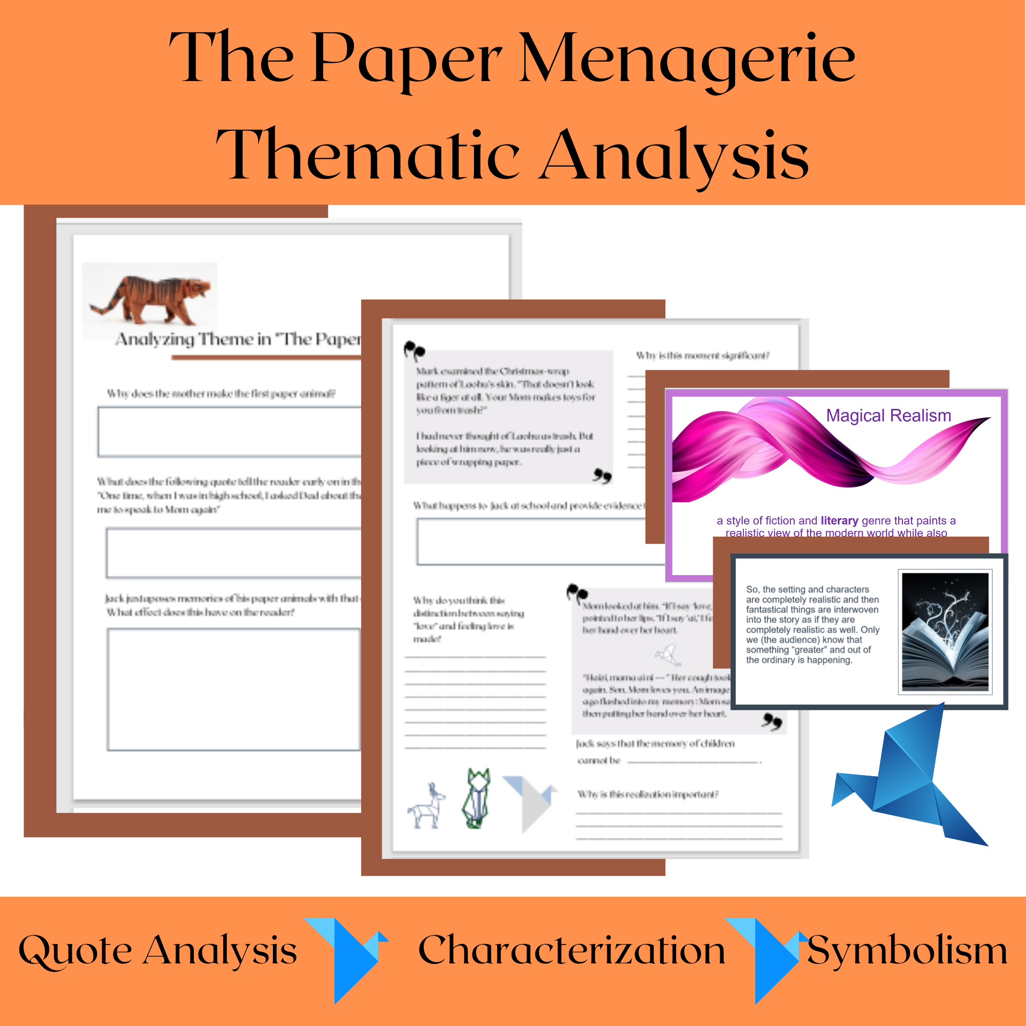 The Paper Menagerie Activities