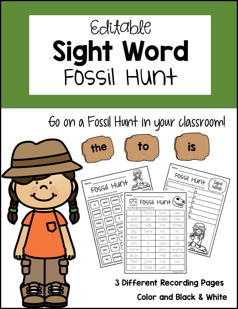 Sight Word Hunt Printable Game