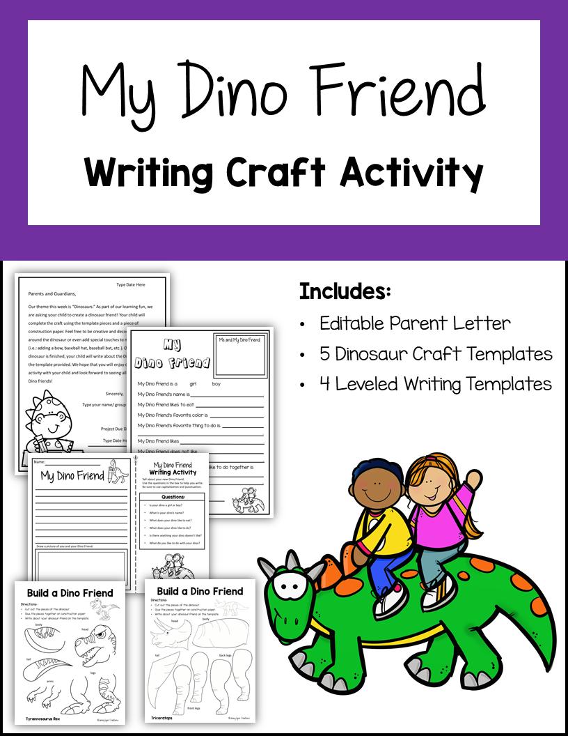 My Dino Friend Editable Writing Craft