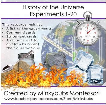 Science Experiments Set of 21 Montessori