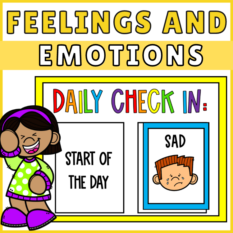 Feelings and Emotions Posters Daily Check In Printables