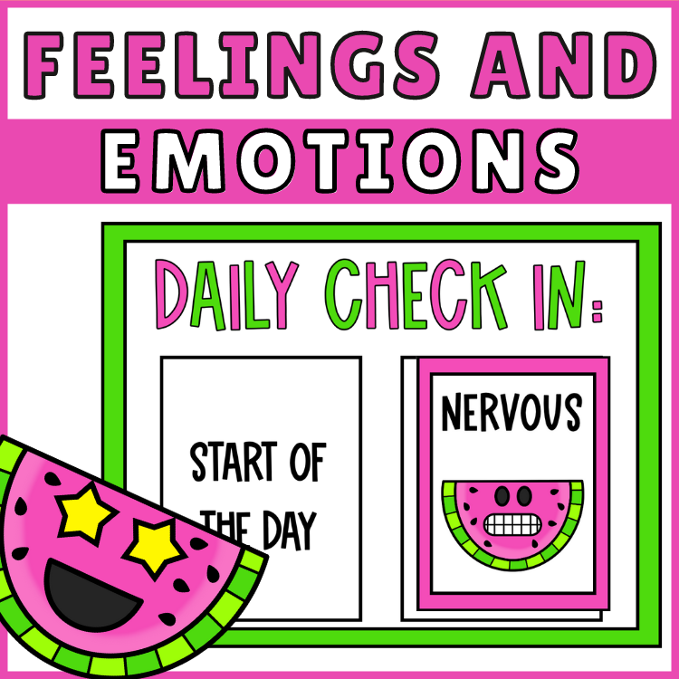 Feelings and Emotions Posters Daily Checkin
